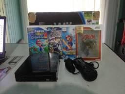 Nintendo Wii Semi-Novo + 6 Jogos Originais