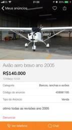 Avião aero bravo ano 2005 - 2005
