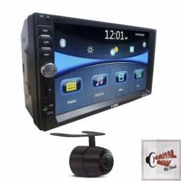 Central Multimídia Espelha Androide, Bluetooth Loucura Canal Som 299,99 Instalação Grátis