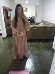 Vestido de festa Rosa/ Rose/Nude madrinha