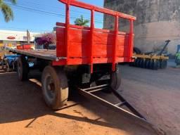 Carreta Reboque Madeira C/ Eixo de Caminhão - Tk Tratores Nova Andradina - MS