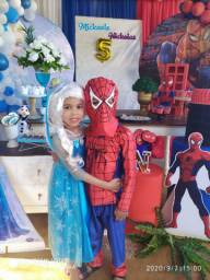 Fantasia frozen e homem aranha