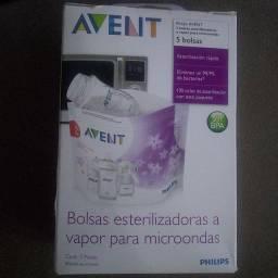 Bolsa esterelizadora para mamadeira no microondas