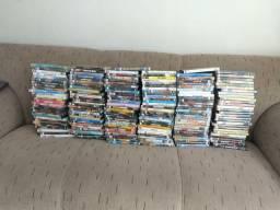 Filmes em dvd, lote com 180 filmes originais de locadora
