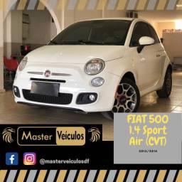 Fiat 500 1.4 Sport Air Completo Automático de 6 velocidade, impecável, só DF