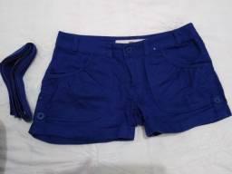 Short azul, usado