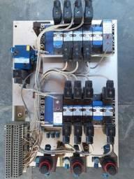 Painel pneumatico e conexões e valvulas
