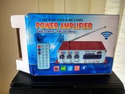 Amplificador De Potência De Áudio Estéreo Mini Bt Amp De Som- Rf Informatica