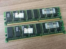 Memória 2x256mb ddr PC3200