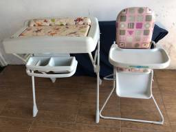 A penas o trocador e a cadeira alimentação