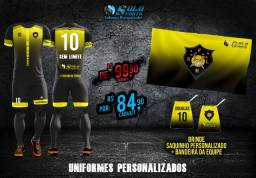 Uniformes de Futebol Totalmente Personalizados!