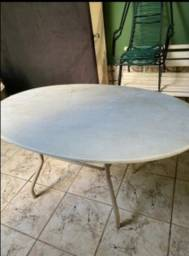 Título do anúncio: Mesa oval de mármore.