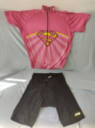 Conjunto Ciclismo Feminina usada Blusa e Bermuda