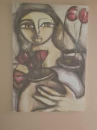 Título do anúncio: Tela com pintura mulher