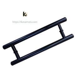 Puxador Porta 40cm Preto Modelo Tubular H