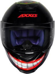 Capacete Axxis Eagle Marianny Gloss Black/red<br>