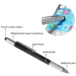 Título do anúncio: Caneta multi-funcional 6x1 touch, chave de fenda, philips, régua e medidor de nível