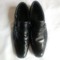 Título do anúncio: Sapato Social Preto Couro Legítimo