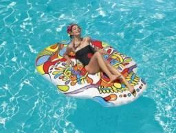 Título do anúncio: Boia Inflável Caveira Mexicana Pool Party Festa Piscina