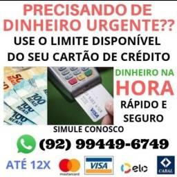 Título do anúncio: A PRIMEIRA DE MANAUS DINHEIRO COM CARTÃO