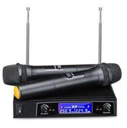 Título do anúncio: Microfone Duplo Profissional uhf com tela lcd digital
