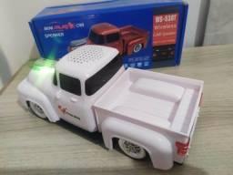 Caixa de som Camionete Branca - Bluetooth P2 Pendrive Cartão Sd Rádio