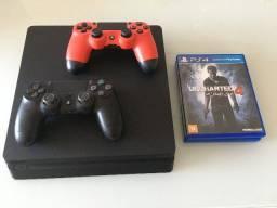 Playstation 4 Slim + 2 Controles Dual Shock + Jogos