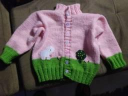 Título do anúncio: Blusa infantil tricô feito à mão