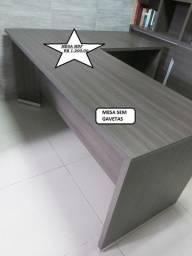 """Mesa em MDF p/ Escritório em """"L"""""""