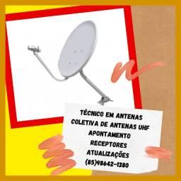 Título do anúncio: Antenas- Instalação de antenas e apontamento e venda de receptores