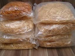 Palha Madeira Natural Fina para cestas de Presente e Decorações.