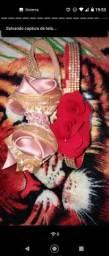 Conjuntos . Sapatos e tapete com 10 peças