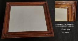 Título do anúncio: Espelhos em moldura de madeira entalhada