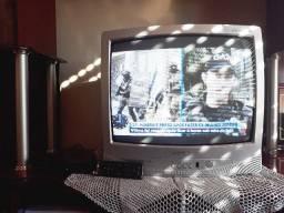 TV Toshiba analógica 21p + kit digital (conversor + controle) (Retirar)