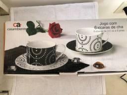 Conjunto de xícaras de chá CASA AMBIENTE