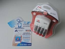 Kit Completo Amox, Carregador + Pilhas.