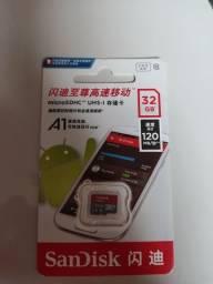 Título do anúncio: Cartão de memória sandisk 32Gb