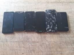 Vendo 6 celularees com defeito e tela quebrada