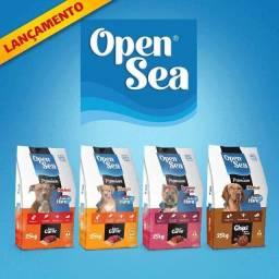 Open Sea Dog Adultos Carne, Chips, Filhote e Raças Pequenas 25 Kg