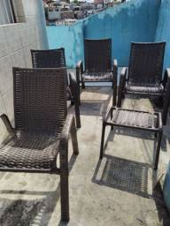 Cadeiras pra piscina ou terraço