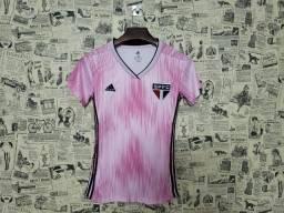 Camisa São Paulo Rosa S/N° Torcedor Feminina