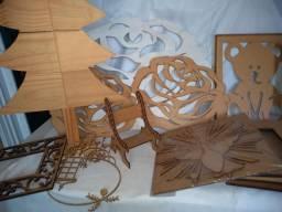 Peças em madeira MDF 75,00