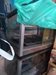 Chapa e estufa para salgados
