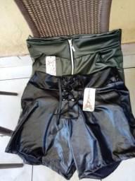 Shorts Couro Fake de cirret so 25 Reais Cada