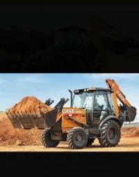 Retroescavadeira Case 580n 4x4 Cabinada 2018