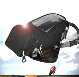 Mala de tanque magnética bolsa alforge + capa impermeável + 4 Cintas auxiliares