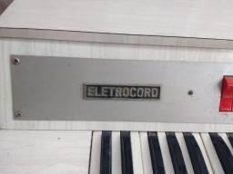 Teclado Eletrocord Antigo pra colecionador!Anos60