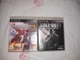 Uncharted 3 e black ops 2 por 100$