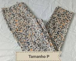 Calça feminina estampada cotton collors