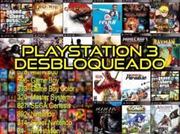 PS3 desbloqueado 4500 jogos retros 21 jogos ps3 passo cartão